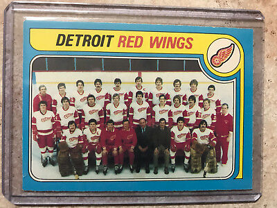 1979 O-Pee-Chee OPC DETROIT RED WINGS Team Checklist #249 NM+