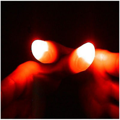 Rubber Magic Light Up Glow Thumbs Fingers Trick Appearing Party Light Close Up