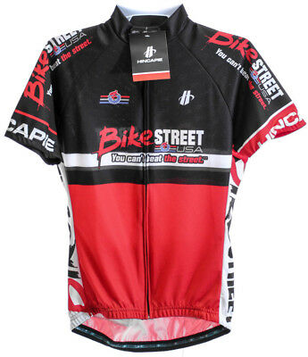 HINCAPIE AXIS Women s Cycling Jersey Lg Short Sleeve Red Black BIKE STREET  NEW 04af8853d