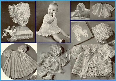45+ Vintage Baby Crochet Patterns GORGEOUS designs for BABIES