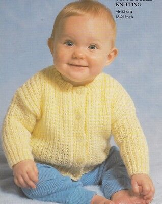 Baby Toddler Knitting Pattern  CARDIGAN 8 Ply 9 Months to 2 Years