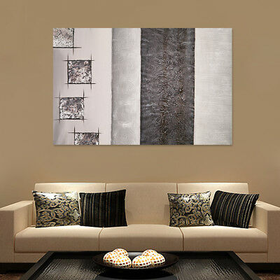 Framed Abstract Canvas Art Oil Painting Hand Painted Modern Home Wall Decor