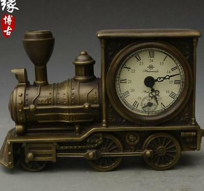Collection Brass mechanical train shaped Western clock