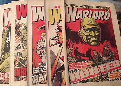 5 Vintage 'Warlord Comics' Issue # 172, 173, 174, 175, 176, (all 1978)