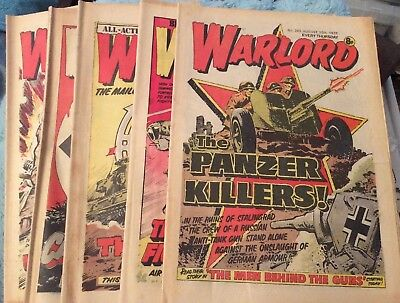 5 Vintage 'Warlord Comics' Issue # 203, 204, 205, 206, 207,(all 1978)