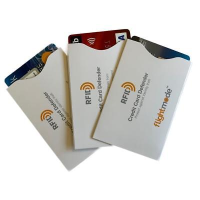 Credit Card Defender RFID Blocking Protect Block 3 sleaves Security Travel