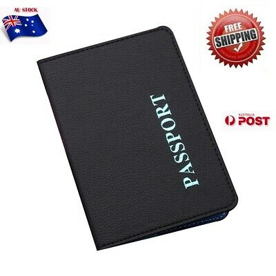 Passport Cover Travel Case Holder Wallet Organizer Protector PU Leather Bag Faux
