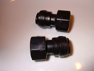 """½"""" BSP female to 12mm push fit (2 Pack) Food Grade water Pump connector."""