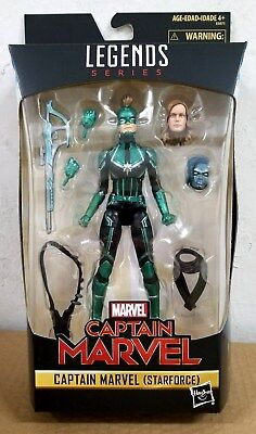 "IN STOCK HASBRO MARVEL LEGENDS SERIES 6"" inch CAPTAIN MARVEL STARFORCE Exclusive"
