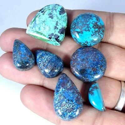 99.00Cts NATURAL DESIGNER AZURITE MIX CABOCHON ~BULK LOT~ LOOSE GEMSTONE