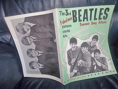 THE BEATLES ORIGINAL SHEET MUSIC BOOK GENUINE ITEM FROM 1964 3rd EDITION LYRICS
