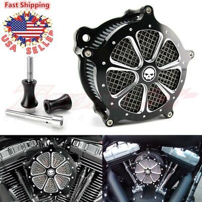 Aluminum CNC Cut Air Cleaner Intake Filter System For Harley Softail 1997-2007