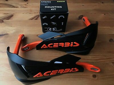 Acerbis X - Factory Universal Bike Hand Guards & Fitting Kit Ktm Black/Orange