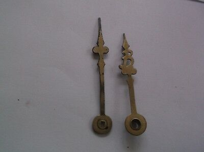 Pair Of Brass Hands From An Old  Mantle Clock  Ref 53