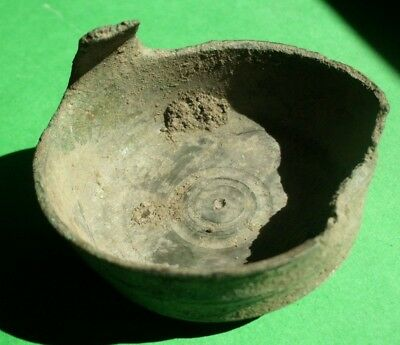 Ancient Celtic Druids Bronze Ritual Vessel Cup - 100 Bc - Rare - Uncleaned