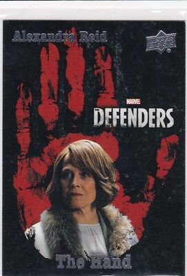 Alexandra Reid 2018 Upper Deck The Defenders The Hand Insert #TH2 (1:240)