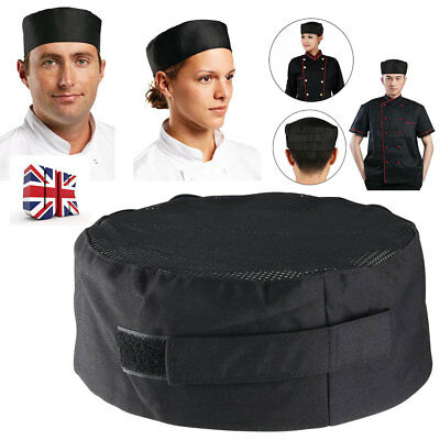 New Hot Popular Pleated Chefs Catering Hat Cook Food Prep Kitchen Round Cap Hats