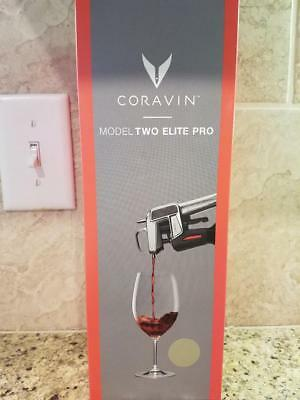 CORAVIN Model Two Elite PRO Wine Preservation System~4 CAPSULES~ CHAMPAGNE ~ NIB