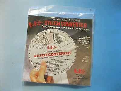 LoRan STITCH CONVERTER-Material / Fabric / Canvas - Figures Material SIze/Count