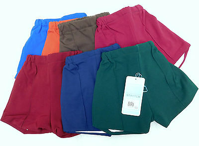 Vintage childrens PE shorts Age 5 to6 UNUSED 1970s nylon School Gym Kit boy girl