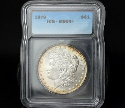 1879-P Ms64+ B/u Gem Morgan Dollar~Perfectly Age Toned~Gorgeous Undergrade~!