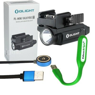 Olight PL-MINI 2 Valkyrie 600 Lumen LED rechargeable Pistol Light adjust rail BK