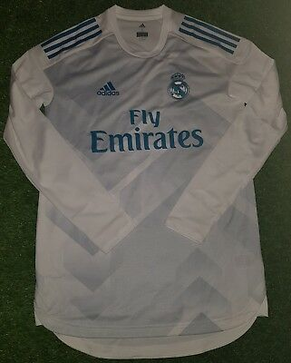Fußball-Trikots Fußball-Artikel Real Madrid FULL SPONSOR pre match player issue shirt match worn Ronaldo Ramos