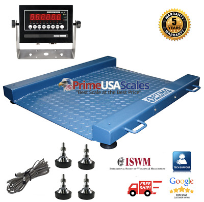 New NTEP (Legal for trade) Drum Floor Scale / Easy Ramp Access 1500 lb x .5 lb