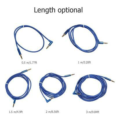 0.5m-3m 3.5mm Jack Audio Cable Male to Male 90° AUX Cable Cord for Car Headphone
