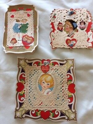 Paper Valentines, Early 20th Century Vintage