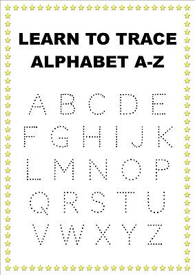 Alphabet Abc Learn to Trace A4 Print Laminated