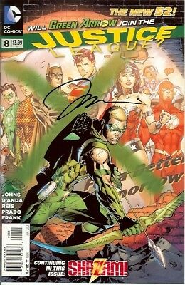 Justice League #8 Signed Jim Lee Dc New 52