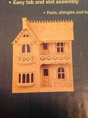 The Allison Wood Dollhouse Kit Artply Model 77 New 89 99 Picclick