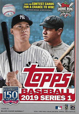2019 Topps Baseball Series One Factory Sealed 67 Card Hanger Box Possible Autos