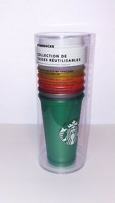 2018 Starbucks Reusable Cup Collection Limited Holiday Tumbler 16 oz - 6 Pack