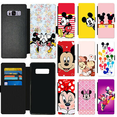 Disney Mickey Mouse New Flip Wallet Protective PU Leather Phone Case For Samsung