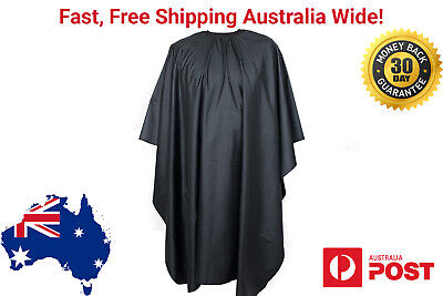 Water Resistant Cutting Cape Large Barber Shop Salon Funky Mens Haircut Black
