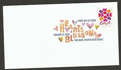 US 5339 Love Hearts Blossom DCP FDC 2019
