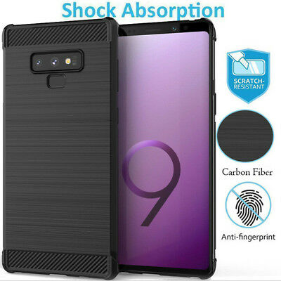 For Samsung Note 9 S10 Plus S10 Lite S9 + Carbon Fiber TPU Shockproof Case Cove