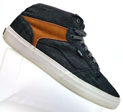 907ad78dfbe Vans OTW Collection Sample Navy Canvas Brown Suede Mid-top Sneaker Shoes  Men s 9