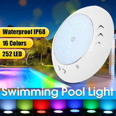 12V 18W Underwater Swimming Pool Spa LED Light Waterproof RGB Lamp +Controller