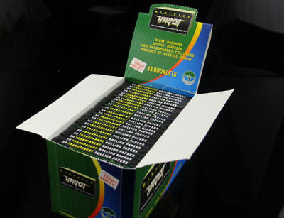 48pack/box HORNET 78*36mm CELLULOSE VEGETAL TRANSPARENT ROLLING PAPERS-50 Leaves