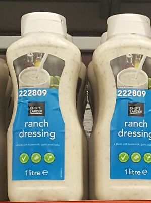 1Ltr Brand New & Sealed Bulk Catering Size Ranch Salad Dressing