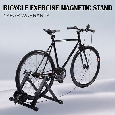 Magnetic Bike Bicycle Trainer Cycling Stand 7 Level Resistance Indoor Exercise