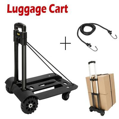 Portable Folding Hand Cart Dolly Fold Up Luggage Truck Moving Cart w/ 4 Wheels