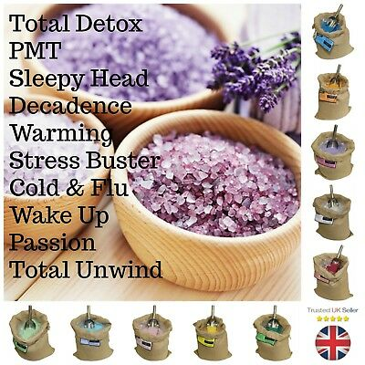 Scented Bath Sea Salts Aromatherapy Detox Pmt Stress Sleep Ancient Wisdom Ml