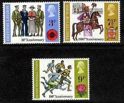 GB 1971 Commemorative Stamps~Anniversaries~Unmounted Mint Set~UK Seller