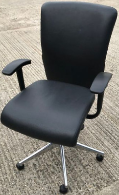 Orangebox GO Chairs Black Leather- 10 Available