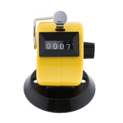 Hand Tally Counter 4 Digit Mechanical Palm Number Clicker, Convenient Yellow