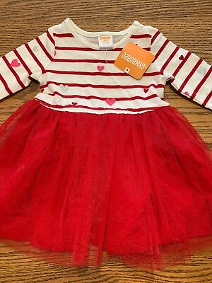 NWT Gymboree VALENTINE/'S DAY Gray Heart Pullover Sweaterdress